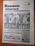 Romania literara 6 iulie 1989-nicolae balcescu,marin preda,fellini