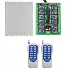 Releu programabil cu telecomanda 12 canale 20A cu doua telecomenzi
