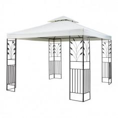 Blumfeldt ODEON GREY, bej deschis, pavilion de grădină, foișor, oțel, poliester, 3 x 3 m