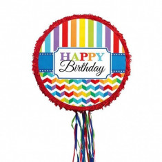 Pinata cu sfori Happy Birthday Brights