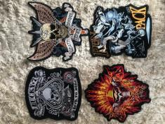 Patch-uri/Embleme autoadezive brodat geaca piele/textil moto/rock/punk foto