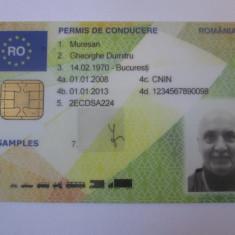 Rar! Probă/mostră permis românesc de conducere cu cip