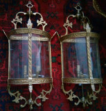 Superb set de 2 aplice de dimensiuni impresionante din bronz