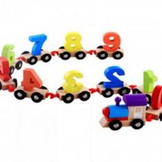 Trenulet din lemn cu cifre