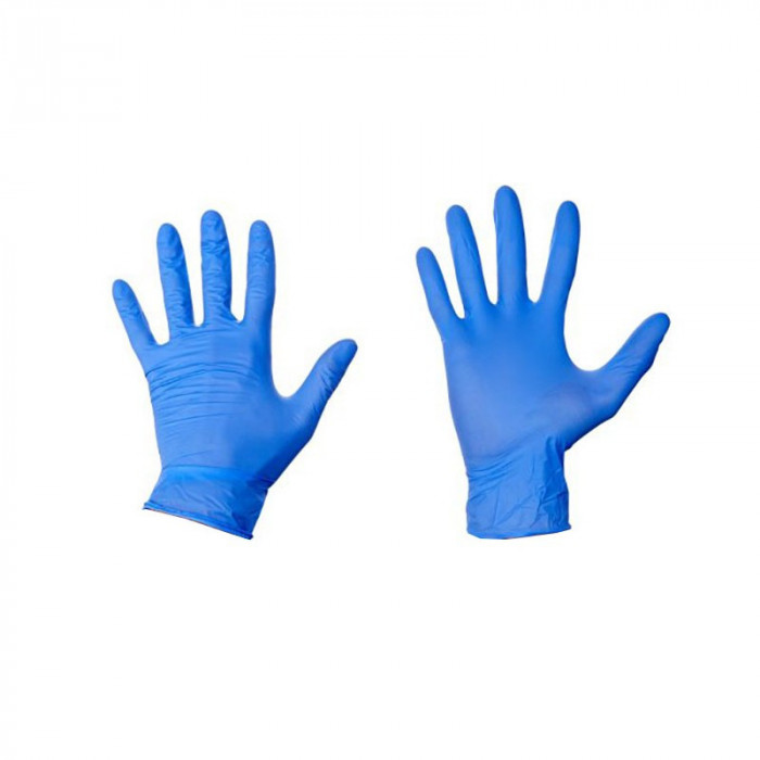 Manusi nitril Best Gen marimea M, albastre, 100 bucati/cutie, nepudrate
