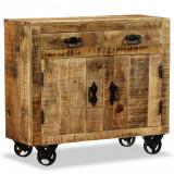 Comodă cu 2 sertare și 1 dulap, lemn masiv de mango