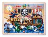 Melissa & Doug Puzzle Lemn Aventura Piratilor