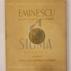 MIHAI EMINESCU ( ingrjita de M. Toneghin ) - POEZII - EDITIE BIBLIOFILA ILUSTRATA DE pictorul Aurel Bordenache, Ex.403 / 2000, 1944