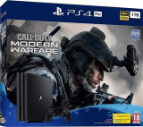Consola SONY Playstation 4 Pro (PS4 Pro) 1TB, Jet Black + Call Of Duty Modern Warfare