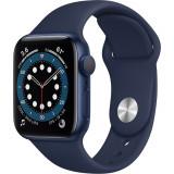 Smartwatch Watch 6 40mm Aluminiu Albastru Si Curea Sport Deep Navy Albastru, Apple
