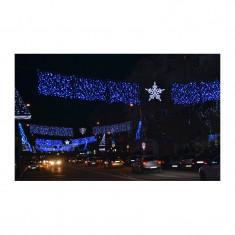 Instalatie de Craciun 8 m x 1 m , Perdea, Albastru , 384 leduri, SDX 6001B