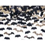 Confetti Lilieci Halloween, Negru/Auriu