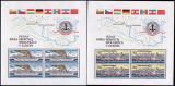 CEHOSLOVACIA 1982 NAVIGATIE , COMISIA EUROPEANA A DUNARII 2 COLITE + SERIE MNH