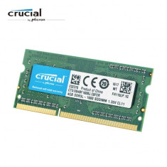 Memorie Laptop Crucial 8GB DDR3L 1600Mhz PC3L Sodimm Low Voltage 1.35V CL11 12800S