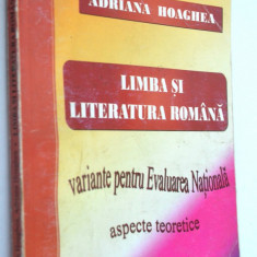 Limba si Literatura Romana, Variante pentru Evaluarea Nationala 2010