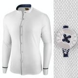 Camasa pentru barbati, alba, slim fit - Neo Elegance, 3XL, L, M, S, XL, Maneca lunga