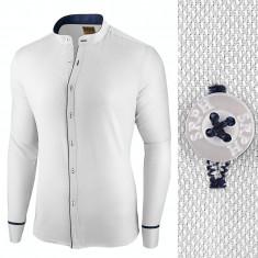 Camasa pentru barbati, alba, slim fit - Neo Elegance, 3XL, L, M, S, XL, XXL