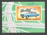 Umm al Qiwain 1972 Old cars, imperf. sheet, MNH S.188