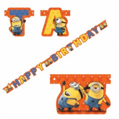 Banner Party Happy Birthday Minions 1,8m