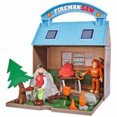 Jucarie copii 3+ ani Statie montana Mountain Activity Centre Fireman Sam Bergstation cu 2 figurine si accesorii