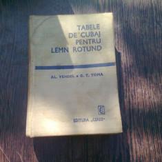 TABELE DE CUBAJ PENTRU LEMN ROTUND - AL. VENDEL
