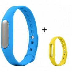 Bratara fitness iUni Mi1 Albastru + Curea de schimb Galben