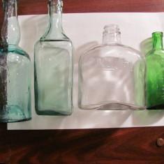 GE Lot 7 sticle foarte vechi straine rare / au continut solutii lichide farmacie