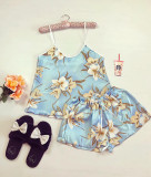 Cumpara ieftin Pijama dama ieftina primavara-vara albastru deschis din satin lucios cu imprimeu Lily