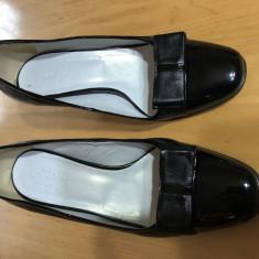 Pantofi Diga cu Toc de Lac Piele Naturala Marime Nr 37 Dama Dame Femei