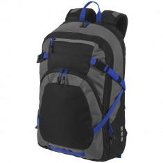 Rucsac Laptop, Everestus, MN, 14 inch, 600D poliester si 600D ripstop poliester, negru, gri, saculet si eticheta bagaj incluse