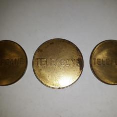 JETOANE - FISE - TELEFOANE CONTROL - 1BUC. 26MM , 2 BUC. 24MM - LOT DE 3 BUC