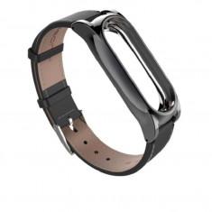 Curea piele Tech-Protect Herms Xiaomi Mi Band 3/4 Black