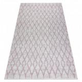Covor SISAL SION Spalier 22129 țesute plate ecru / roz, 140x190 cm