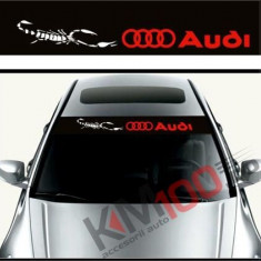 Sticker parasolar auto AUDI (126 x 16cm)