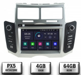NAVIGATIE Toyota Yaris (2005-2011), ANDROID 9, Octacore PX5 4GB RAM + 64GB ROM cu DVD, 7 Inch - AD-BGWYARIS2P5