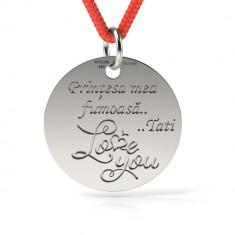 Pandantiv Love You cu Snur reglabil din Argint 925 personalizabil