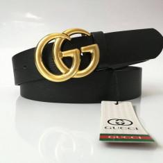 Curea Piele Naturala Gucci, Marime universala, Din imagine, curea si catarama