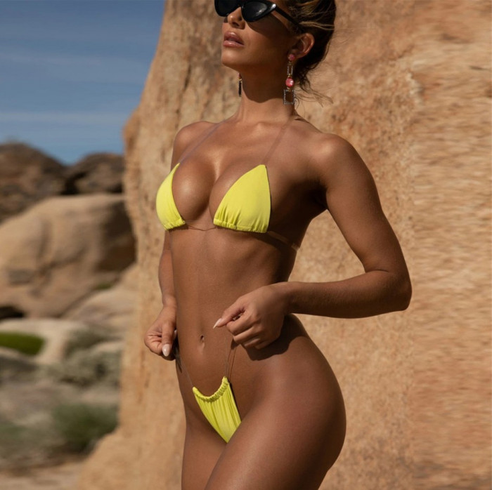 Costum de baie Mini Bretele Invizibile Sexy Sutien Bikini Tanga LadyLust Push Up
