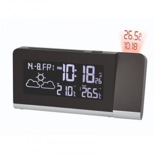 Statie meteo cu proiector Bresser MC 7007100, termometru, alarma