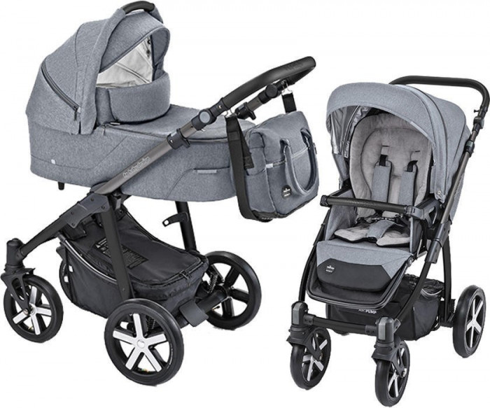 Carucior Multifunctional Baby Design Husky 07 Gray 2019 (winter pack)