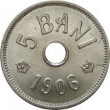 ROMANIA, 5 BANI 1906 J_UNC * cod 6