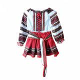 Cumpara ieftin Costumas-Rochita populara, motiv traditional, varsta 13 ani