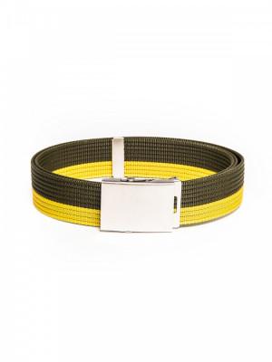 Curea pentru barbati in doua culori, lungime ajustabila, catarama din metal, verde - A062 foto