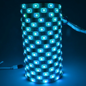 Kit complet 10m band RGB 60SMD 5050/m telecomanda 24 taste ManiaLight