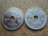 ROMANIA - LOT 5 BANI 1905 + 5 BANI 1906 LIT. J , L7.63