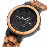 Cumpara ieftin Ceas din lemn Bobo Bird cu curea din lemn, O26-2