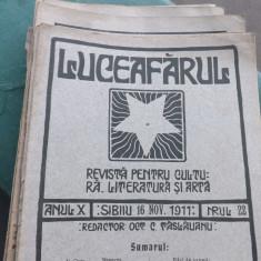 Colectie de reviste,Luceafarul 1911.Director O.Goga.42 buc.