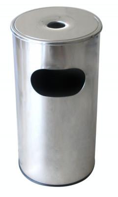 Coș de gunoi cu scrumiera rotund pentru hotel fără găleată interioară 30l. 29,5x29,5xh60,5cm MN018539 Raki foto