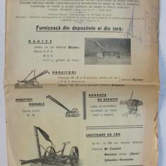 ' SEMANATOAREA ' SOCIETATE ANONIMA ROMANA A AGRICULTORILOR PENTRU PROCURARE DE MASINI AGRICOLE , PLIANT DE PREZENTARE , INCEPUTUL SECOLULUI XX
