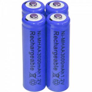 Baterii reincarcabile AA, 3000mAh, 1,2V, acumulatori AA